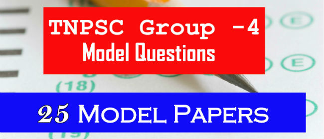 TNPSC Group 4 Model Question Paper